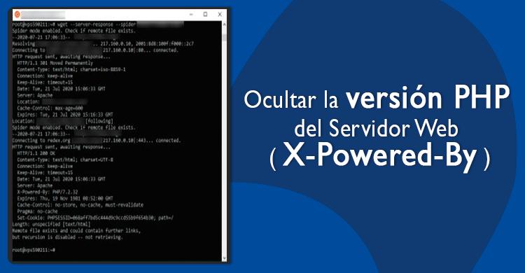 Ocultar la versión PHP del Servidor Web ( X-Powered-By )