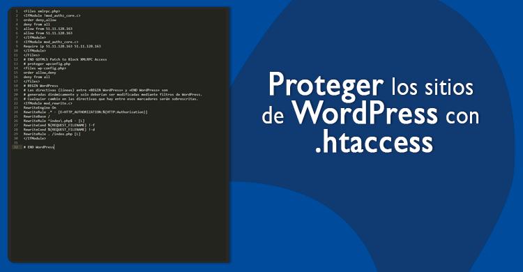 Proteger los sitios de WordPress con .htaccess