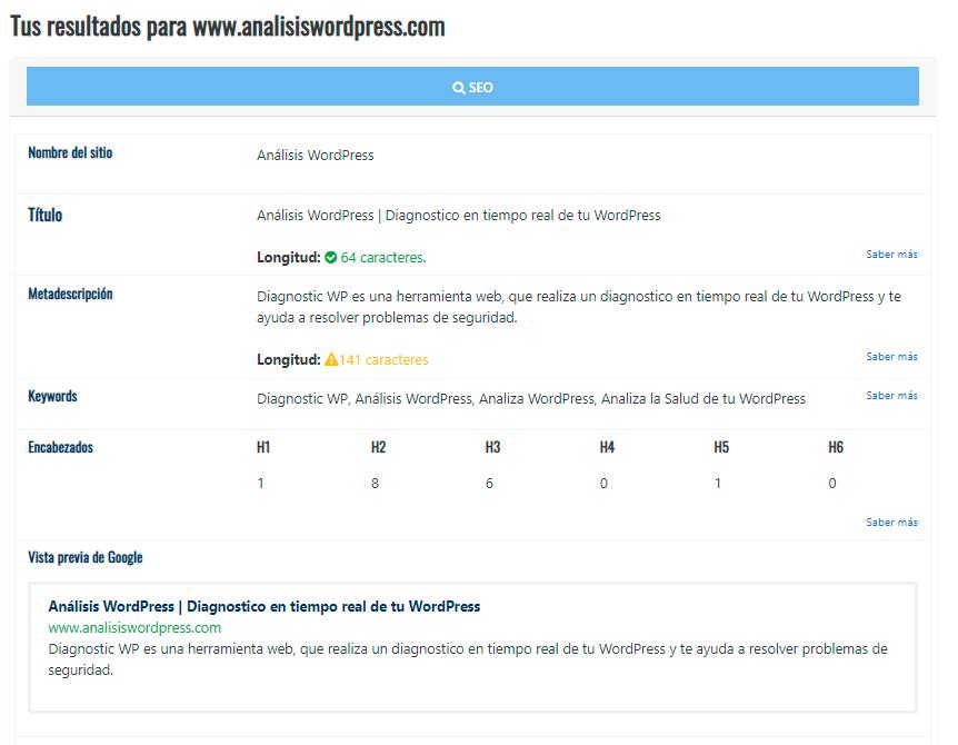 Analizar Wordpress